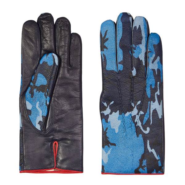 Blue Camouflage Gloves