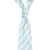 White Double Stripe Silk Linen Tie