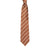 Double Stripe Mogador Silk Tie Chocolate