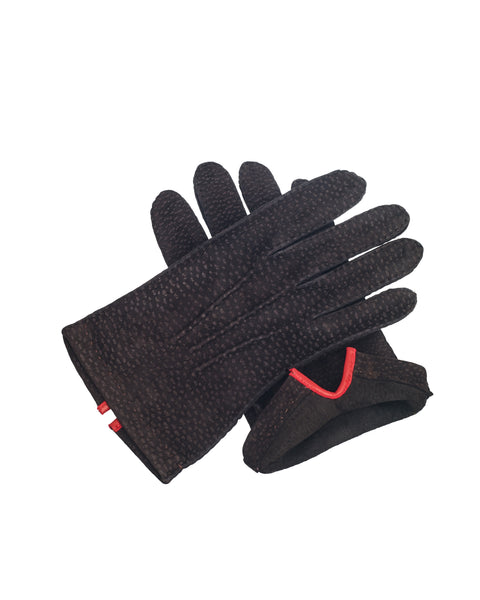 Peccary Gloves Chocolate