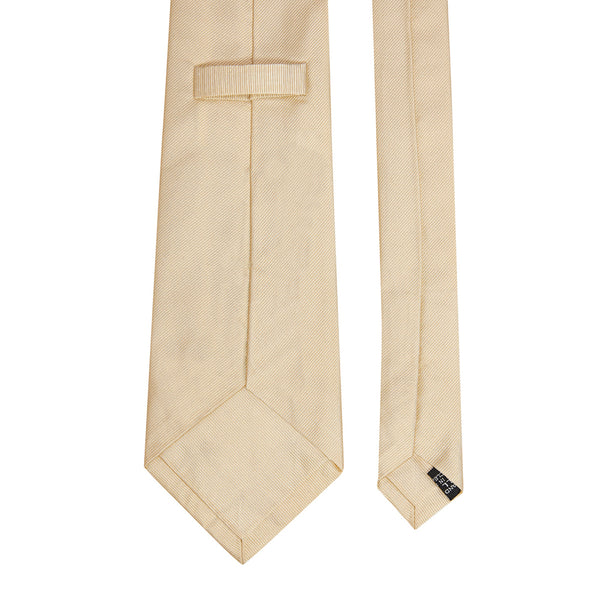 Plain Repp Silk Tie Cream