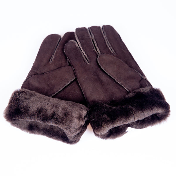 Shearling Gloves Espresso