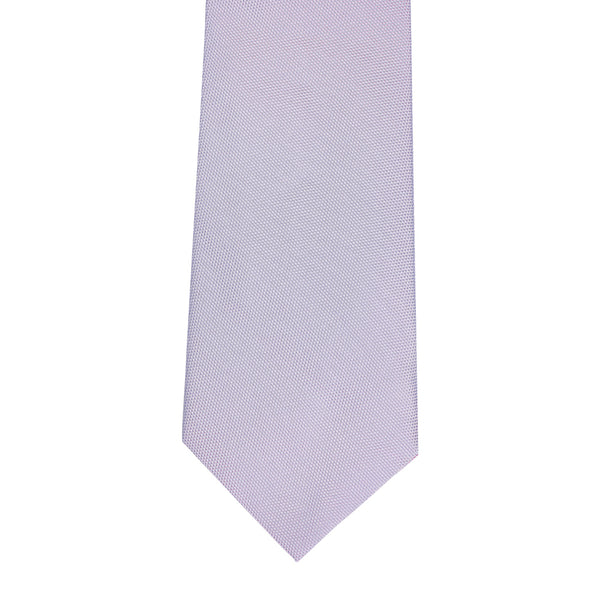 Plain Honeycomb Silk Tie Lavender