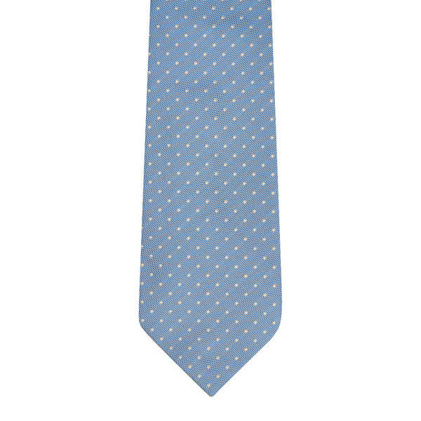Honeycomb Dot Silk Tie Medium Blue