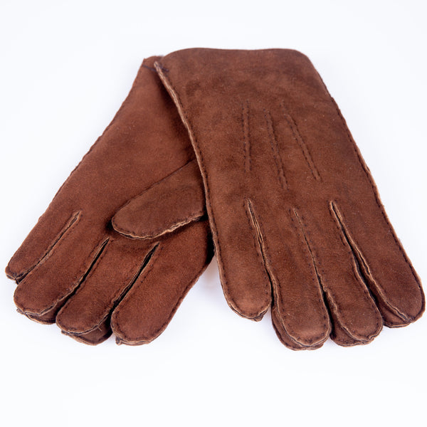 Shearling Gloves Mocha