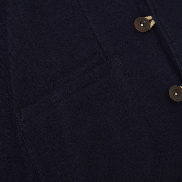 Navy Knit Cashmere Duffle Corto