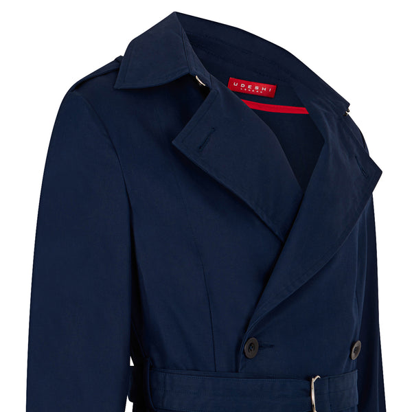 Navy Cotton Trench Coat