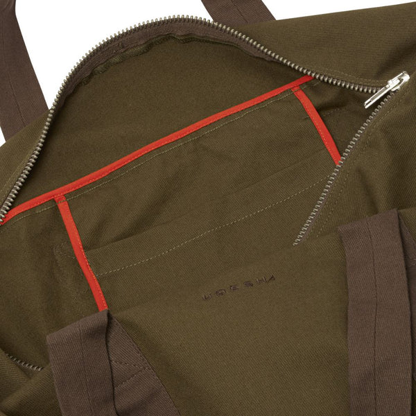 Olive Cavalry Twill Parachute Bag Medium