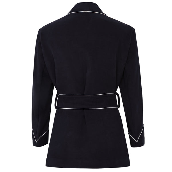 Navy Moleskin Dressing Jacket