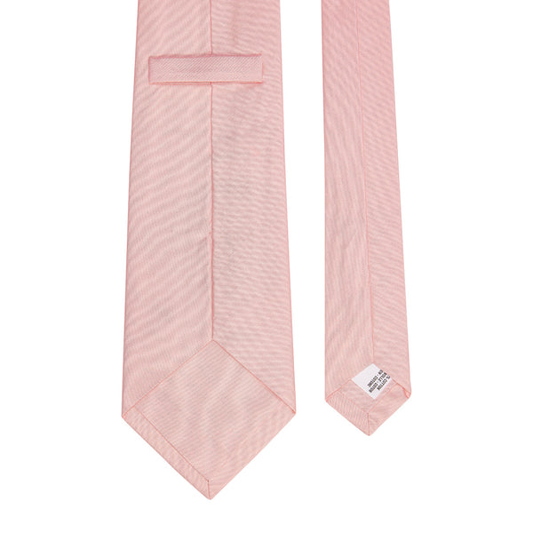 Plain Silk Cotton Tie Pink
