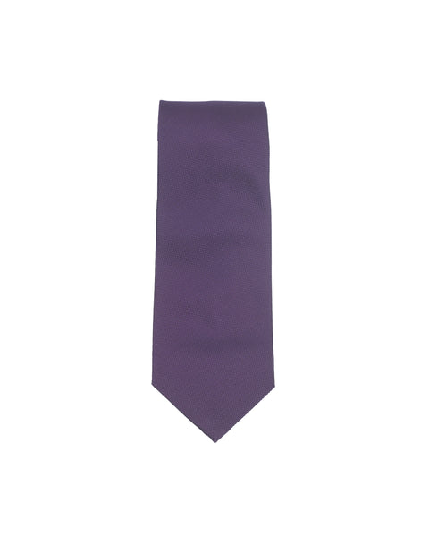 Plain Honeycomb Silk Tie Purple