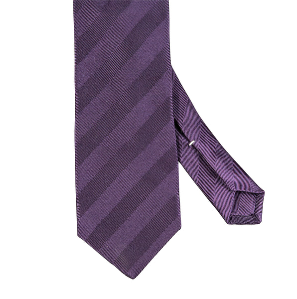 Plain Herringbone Silk Tie Purple
