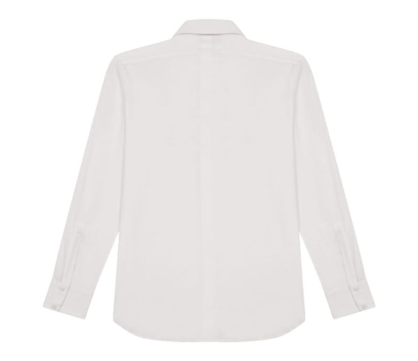 Italian Fine Knit Shirt White