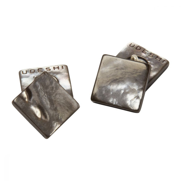Mother of Pearl Cufflinks Square Grey