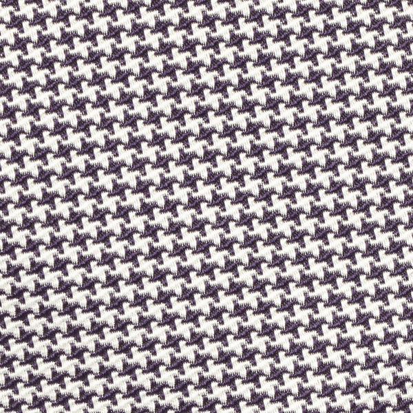 Houndstooth Silk Tie Purple