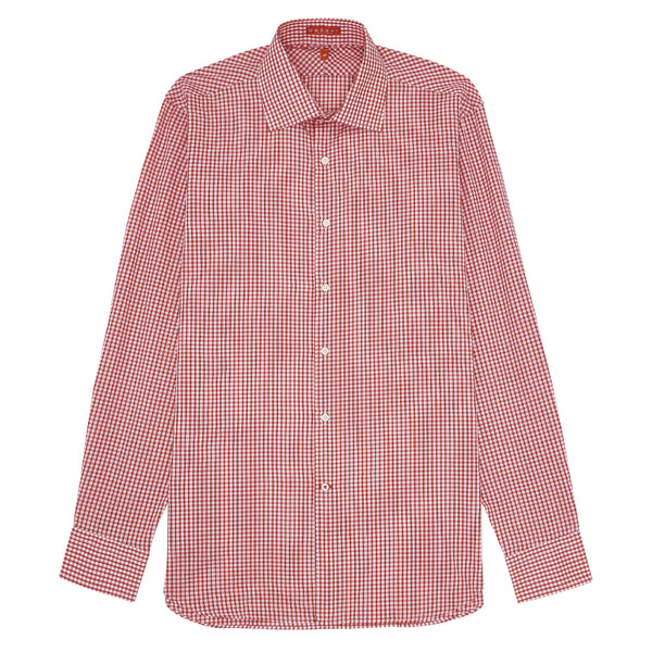 Gingham Check Shirt Red