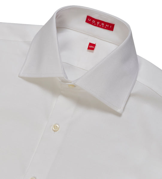 Connery Collar Shirt with Double Cuff in Italian Ribbed Cotton