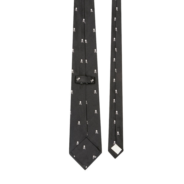 From Russia With Love Motif Silk Tie Black