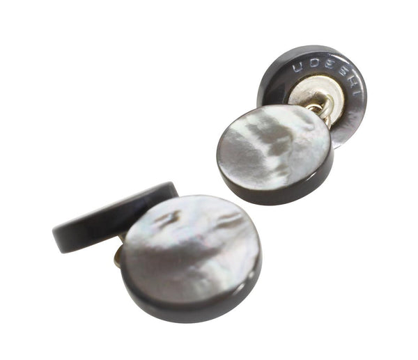 Mother of Pearl Cufflinks Grey
