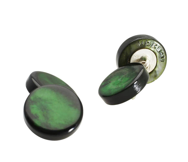 Mother of Pearl Cufflinks Green