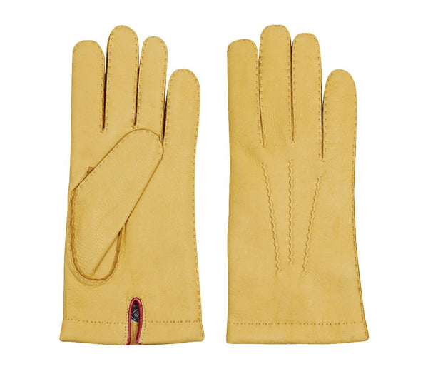 Buck Skin Gloves Yellow