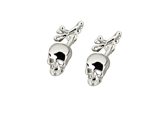 Skull and Cross Bone Cufflinks Platinum