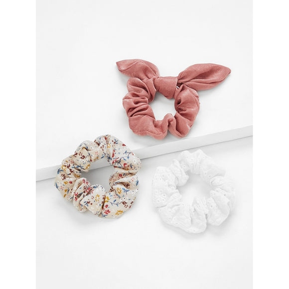 Calico Hair Scrunchie 3pcs