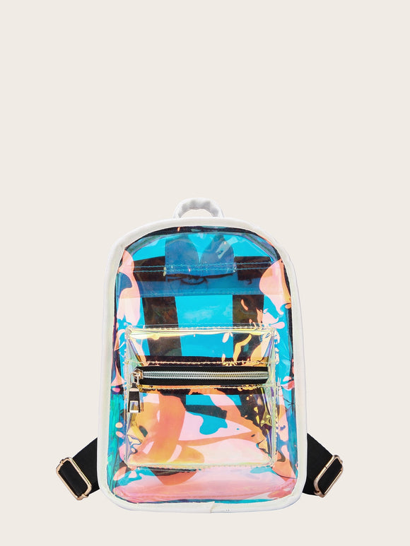 Pocket Front Iridescent Backpack