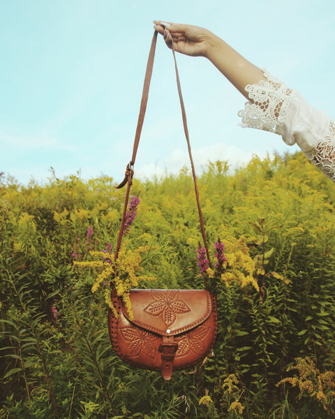 Florecita Leather Crossbody