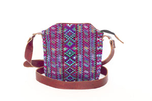 Huipil Leather Cross-body