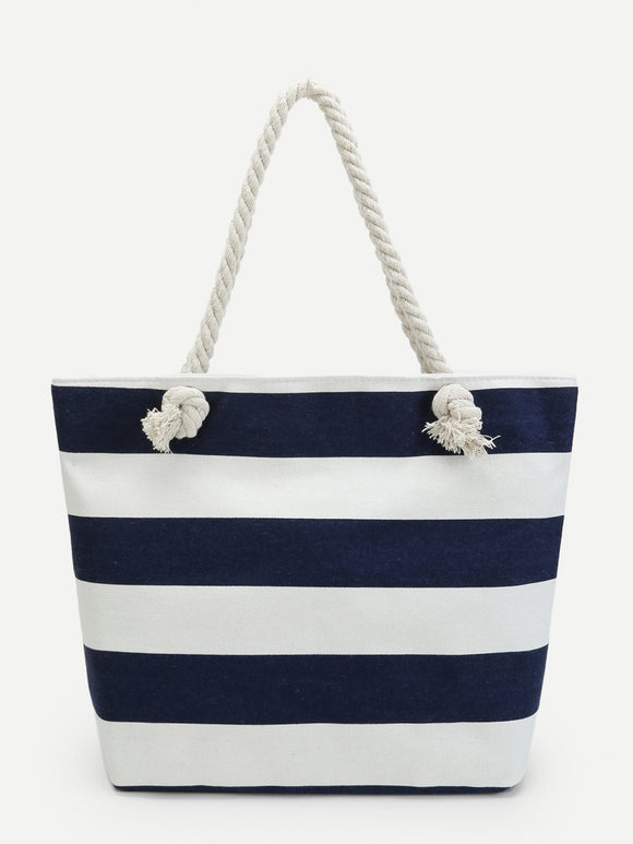 Sailor Striped Tote Bag