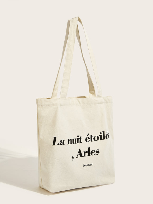 Letter Detail Tote Bag
