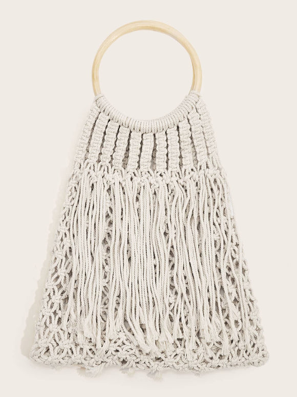 Ring Hand Crochet Tote Bag