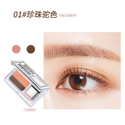LAIKOU Double Color Eye Shadow Makeup Palette Glitter Palette Eyeshadow Pallete Waterproof Glitter Eyeshadow Shimmer Cosmetics