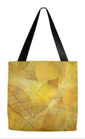 Fall Tote - Golden Leaves