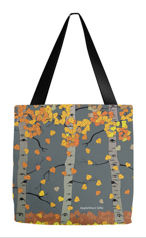 Fall Tote - Aspen Falling Leaves