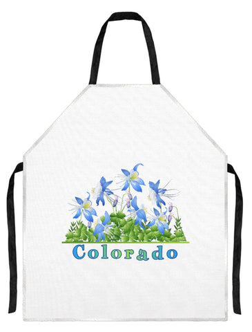 Apron - Colorado Blue Columbines