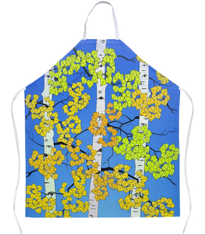 Apron - Fall Aspen Trees - Blue