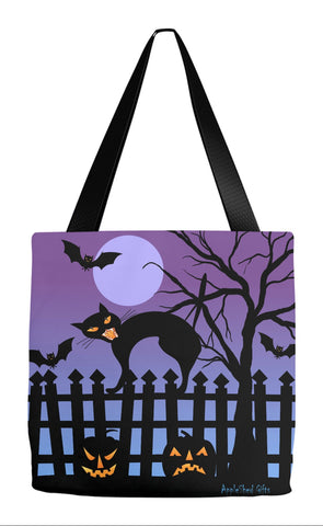 Holiday Tote - Black Cat