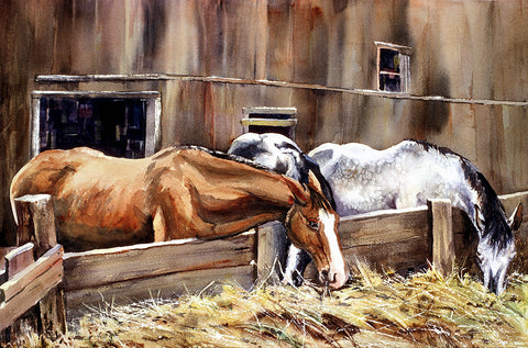 "Greeting Card - ""At The Feed Bank"""