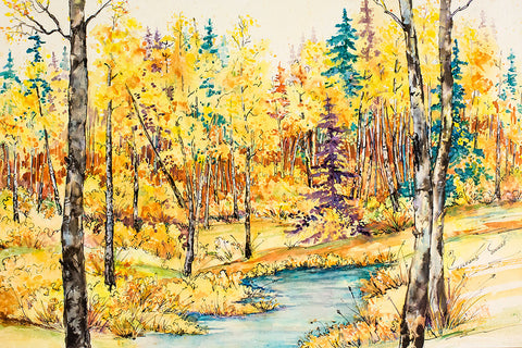 "Canvas Wrap - ""Aspen Gold"" 16x24"