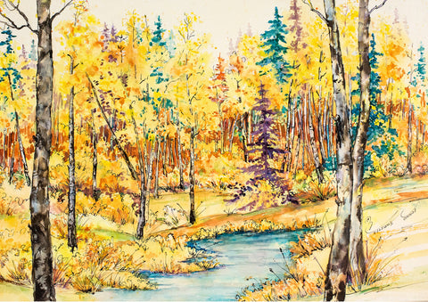 "Greeting Card - ""Aspen Gold"""