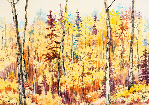 "Greeting Card - ""Aspen Splendor"""