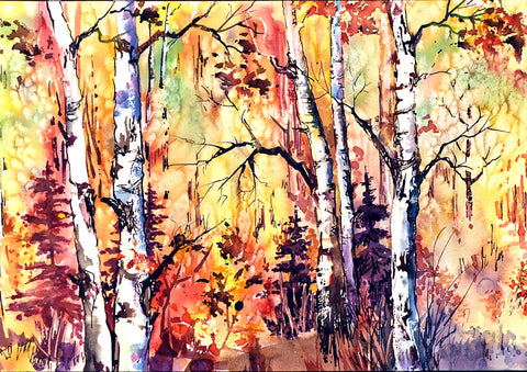 "Greeting Card - ""Autumn Gold"""