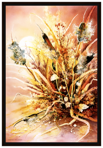 Framed Canvas - Cattail Fuzz - 24x36