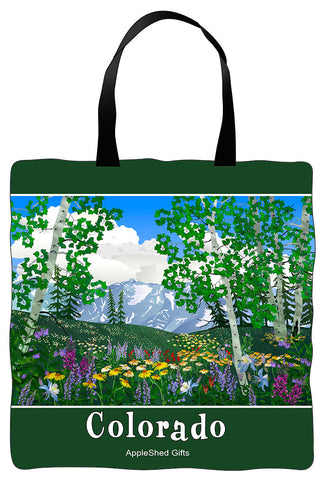 Tote Bag - Colorado Aspen & Wildflowers