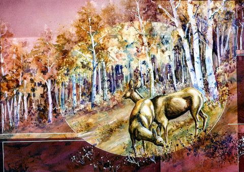 "Greeting Card - ""Fall Deer"""