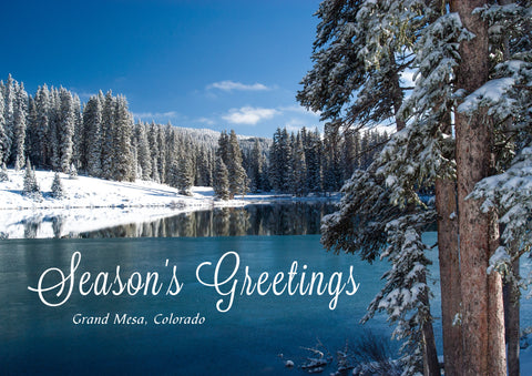 "Holiday Card - ""Grand Mesa Winter Lake"""