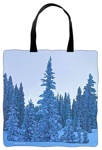 Winter Tote - Snowy Trees