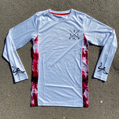 White/Red Long Sleeve